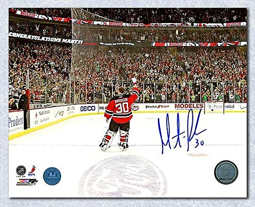 Martin Brodeur New Jersey Devils Autographed Win Record Celebration 8x10 Photo - Signed Hockey Pictures