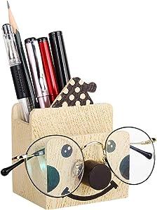MoKo Pen Pencil Holder, Cute Creative Multifunctional Pencil Stationery Holder, Eyeglass, Phone Bracket Stand Desk Organizer for Office/Home/School - Clown