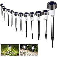 Luces Solares Jardín LED Bawoo 12 Pack Jardín Lámpara de Camino de Paisaje Iluminación…