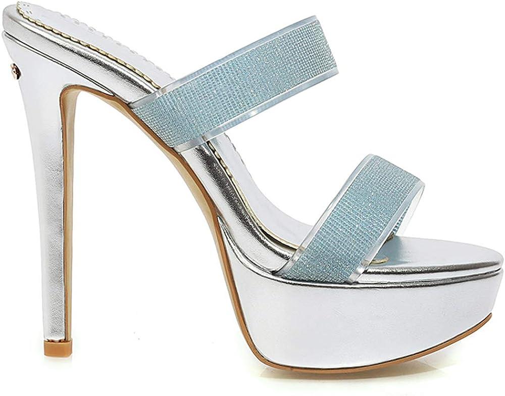 Lydee Mode Plateforme Sandales Femmes Ete Chaussures Argent 3