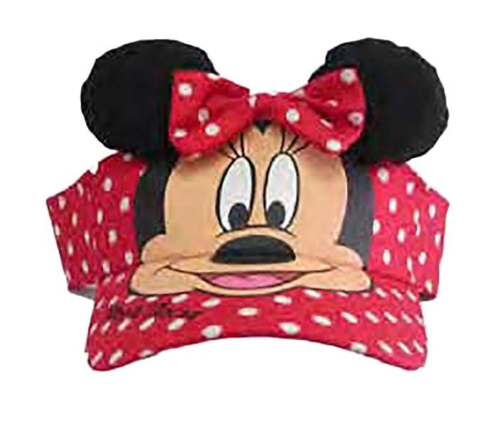Amazon.com  Disney Minnie Mouse Polka Dot Visor W ears  Clothing 95475e84e23