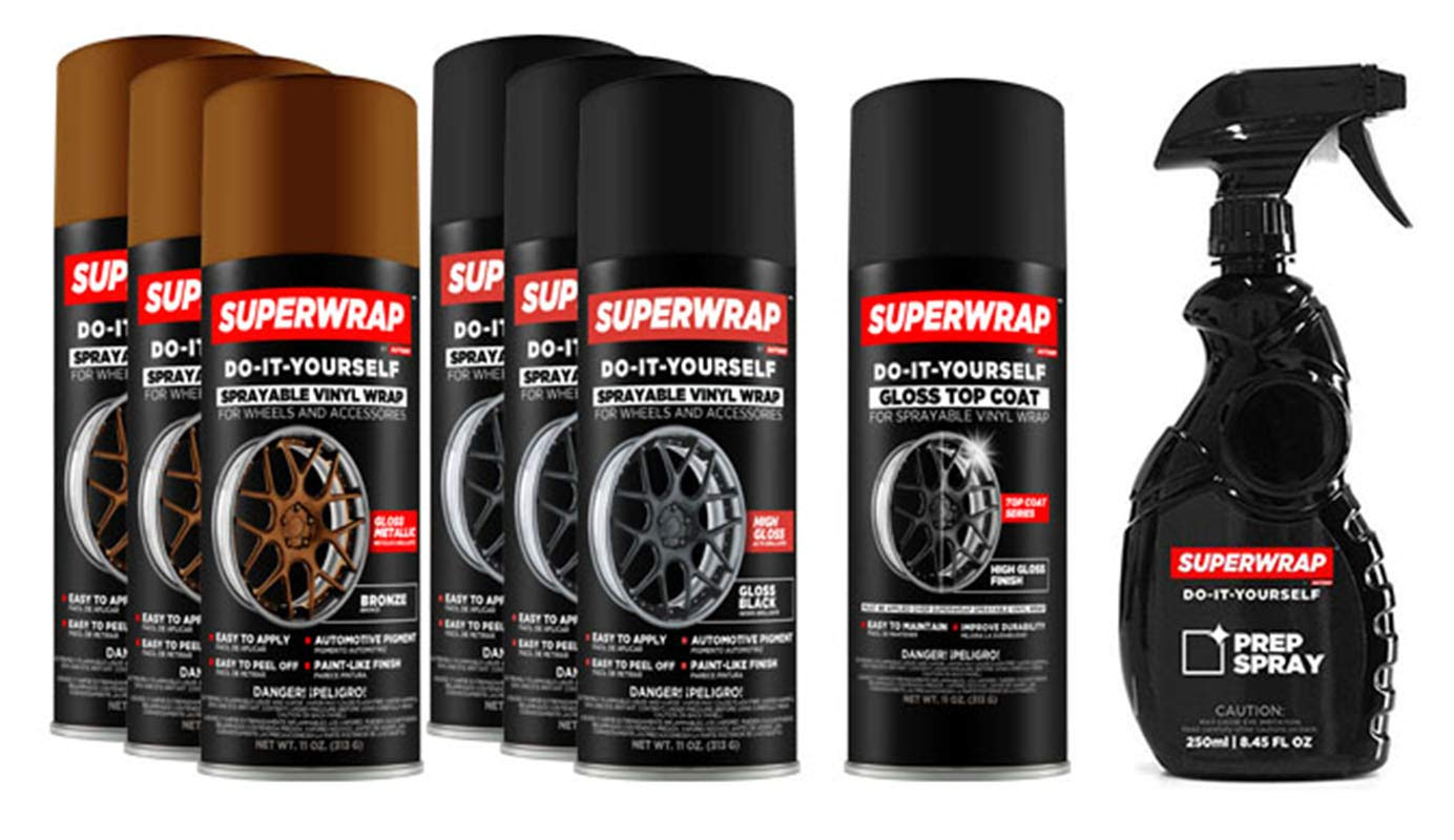 Superwrap Sprayable Vinyl Wrap - Wheels Kits up to 19' - Bronze DVG Brands