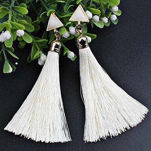 Tassel Earrings Bohemian Women Ethnic Hanging Rope Earrings