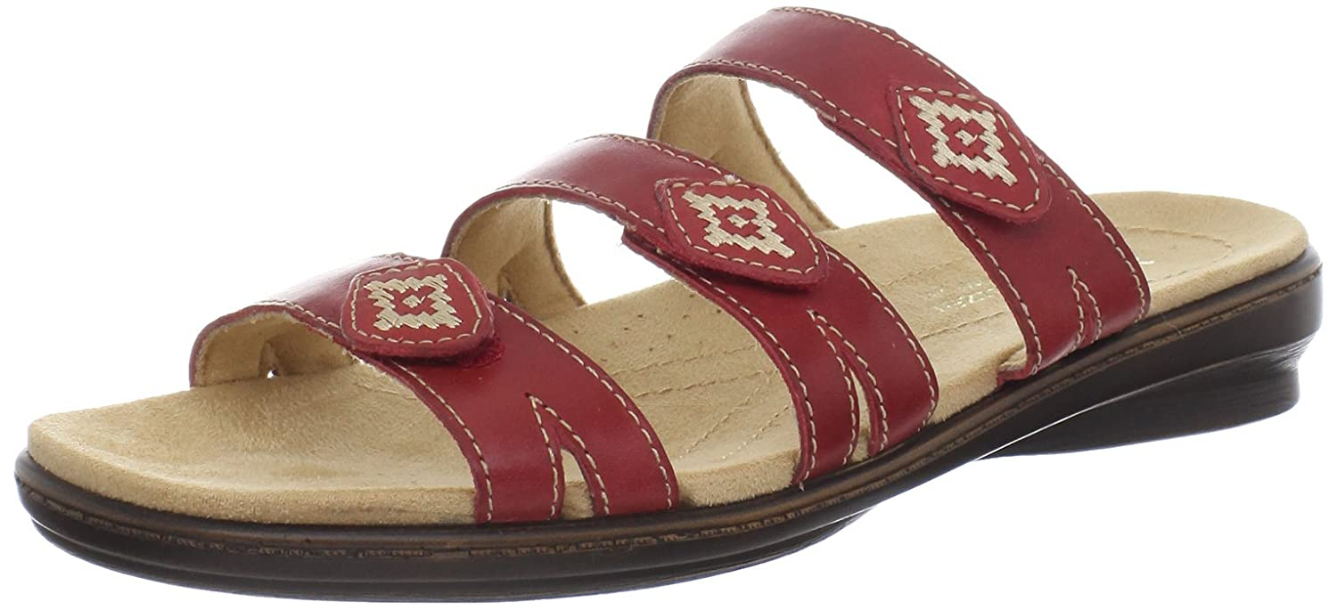 Women's sandals with removable insoles - Naturalizer Women S Kane Sandal Red Pepper 6 M Us