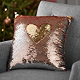 Twos Co Sequin Pillow 14 x 14 (Rose/Champagne)