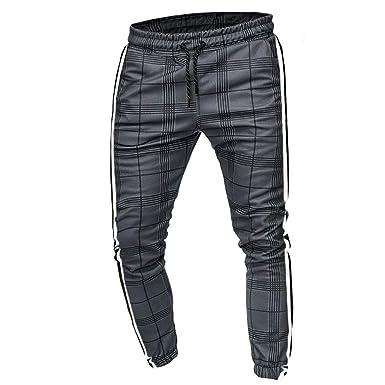 Pantalones de Trabajo de Hombre, Largo Casual Deporte Delgado ...