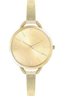 Rotgold schmuck damen  Zierliche Fashion Damenuhr Farbe Roségold Uhr Edelstahl Armbanduhr ...