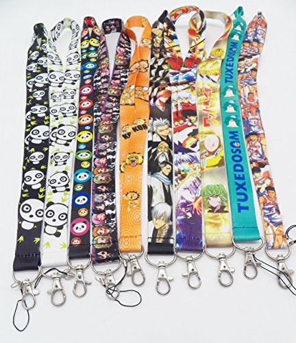 10 Assorted Anime Bleach Kon Inuyasha Phone Key Chain Strap LANYARD Set #11