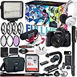 Canon EOS 6d DSLR Camera Premium Video Creator Kit with Canon 50mm f/1.8 STM Lens + Sony Monitor Series Headphones + Video LED Light + 32gb Memory + Monopod + High End Accessory Bundle