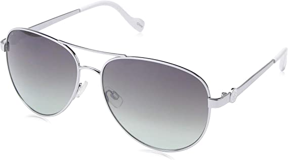 Jessica Simpson Women's J5596 Metal Aviator Sunglasses with Signature JS Enamel Logo Temple and 100% UV Protection
