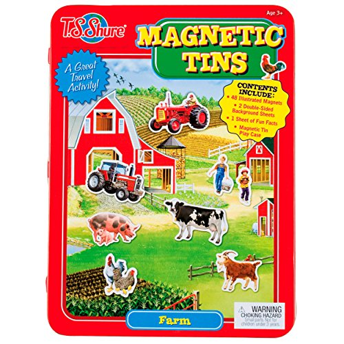 T.S. Shure Farm Magnetic Tin Playset