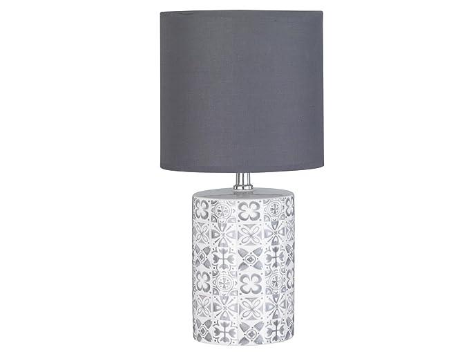 Decorativa Lámpara de mesa Oriental redondo con bombilla LED ...
