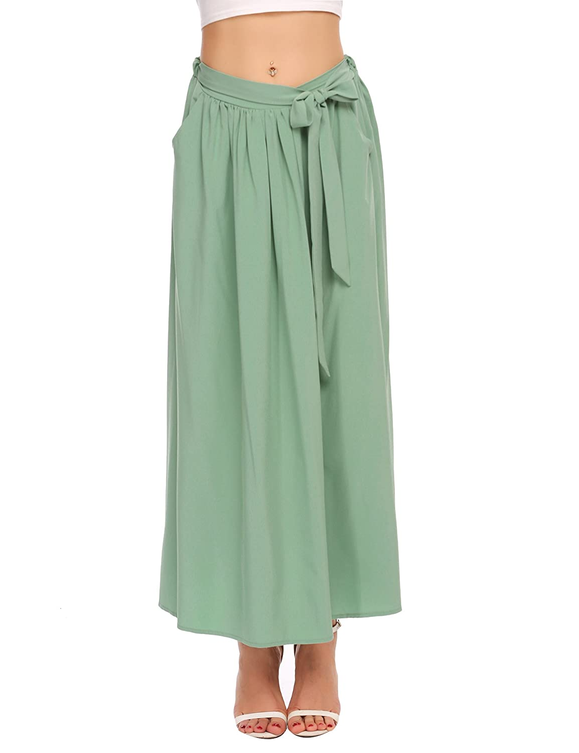 Chigant SKIRT レディース Green B076LXPFB2 Chigant X-Large Pea Green Grey X-Large, デコライト:a0f6dd63 --- forum.marketcentral.in