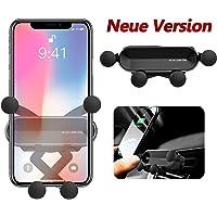 BellFan Handyhalterung für Auto, Schwerkraft Auto Handyhalterung Air Vent Universal-Kfz-Handyhalter kompatibel für iPhone XS MAX/XS/XR, Galaxy S10/S10+ (für 4,7'' - 6,5'') (Schwarz)