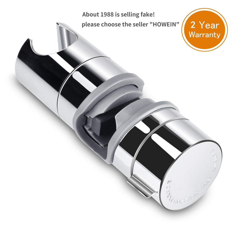 Soporte Ducha Aoleca 18-25mm ABS Almohadilla ajustable del cromo del soporte de la abrazadera