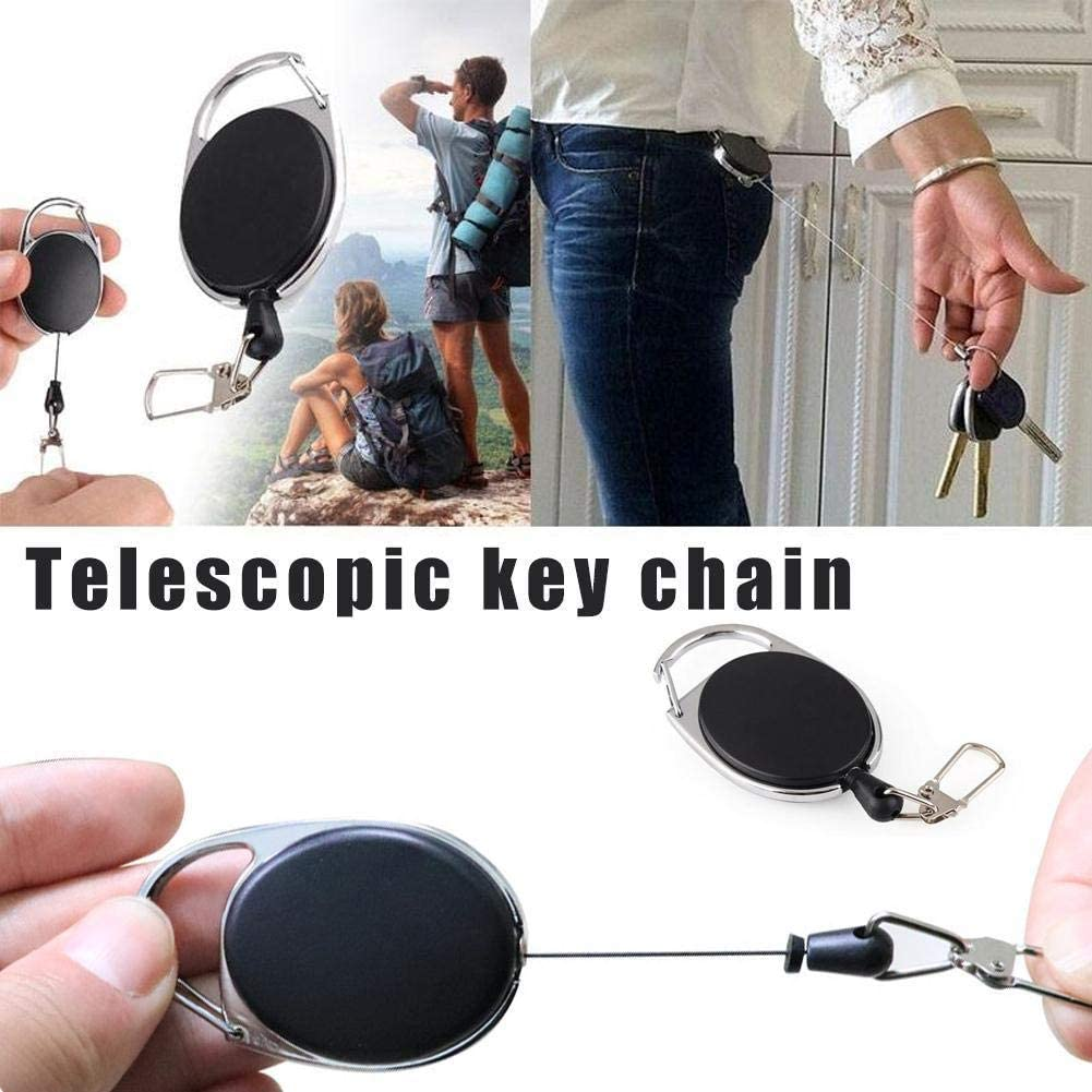 Telescopic Wire Rope Anti Lost Key Ring Keychain Retractable Gear Finder Gadget