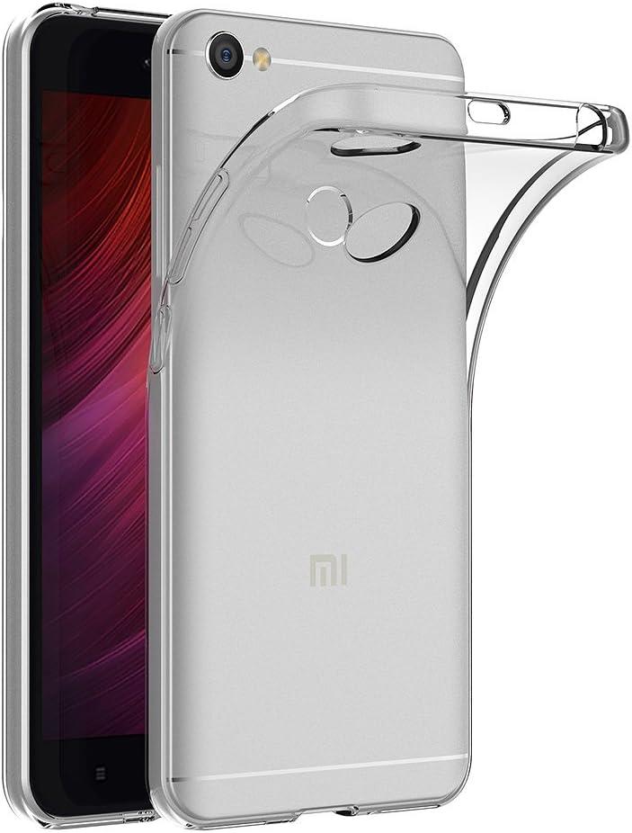 AICEK Funda Xiaomi Redmi Note 5A / Xiaomi Redmi Note 5A Prime, Transparente Silicona Fundas para Xiaomi Redmi Note 5A Carcasa Silicona Funda Case (5,5 Pulgadas)