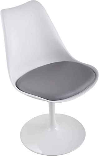 JAXSUNNY Modern Swivel Tulip Side Chair