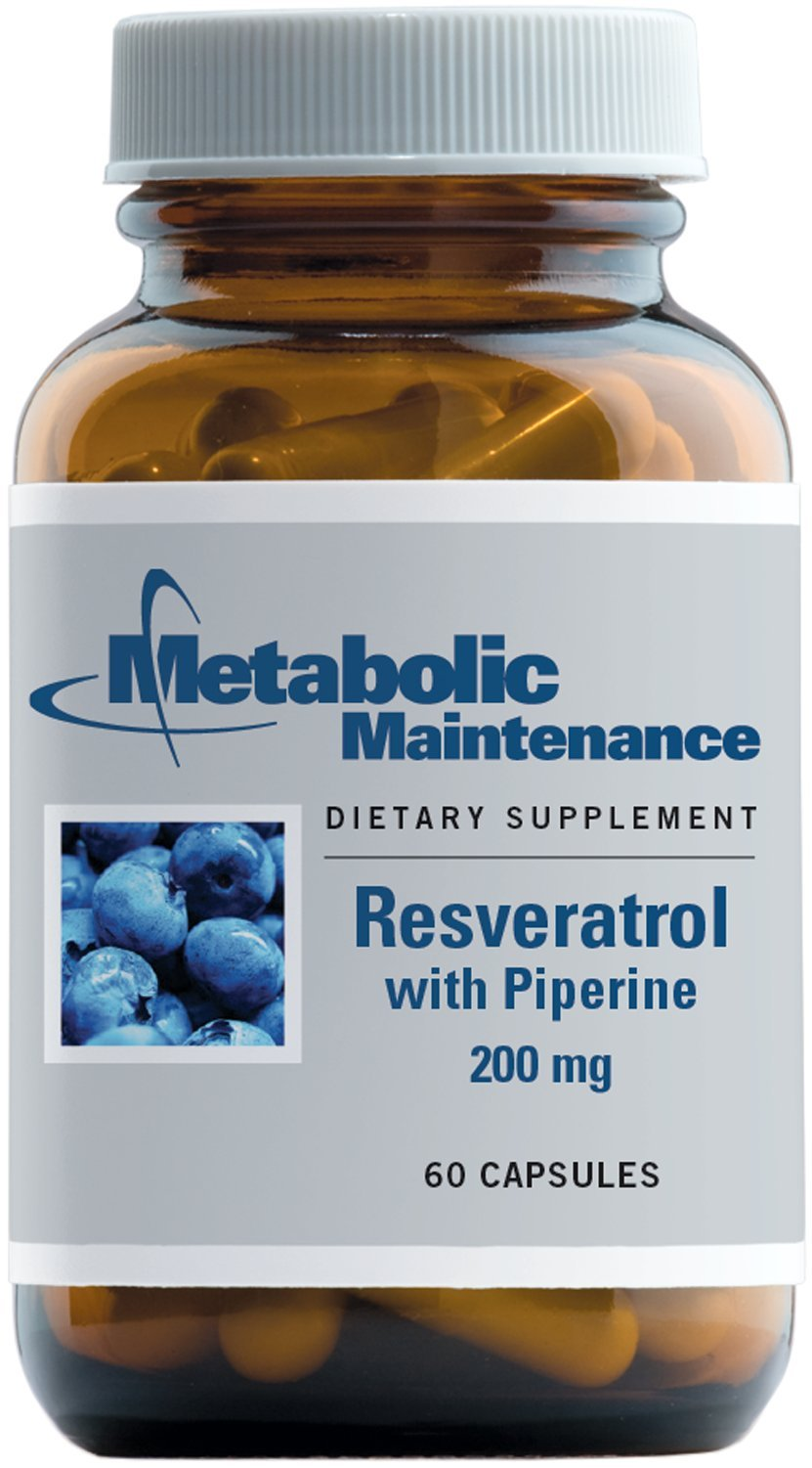 Metabolic Maintenance Resveratrol with Piperine - Antioxidant + Cardiovascular Support with Superior Absorption (60 Capsules)
