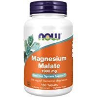 NOW Foods Magnesium Malate (1000Mg) 180 Tabs