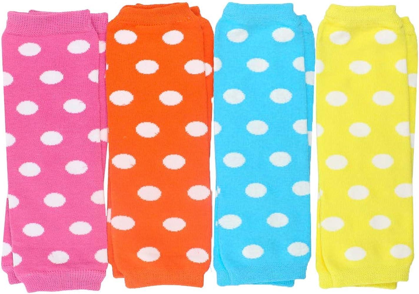Powder Pink Polka Dot Lavender Polka Dot juDanzy 3 Pair Baby Girl Leg Warmers Aqua Polka Dot