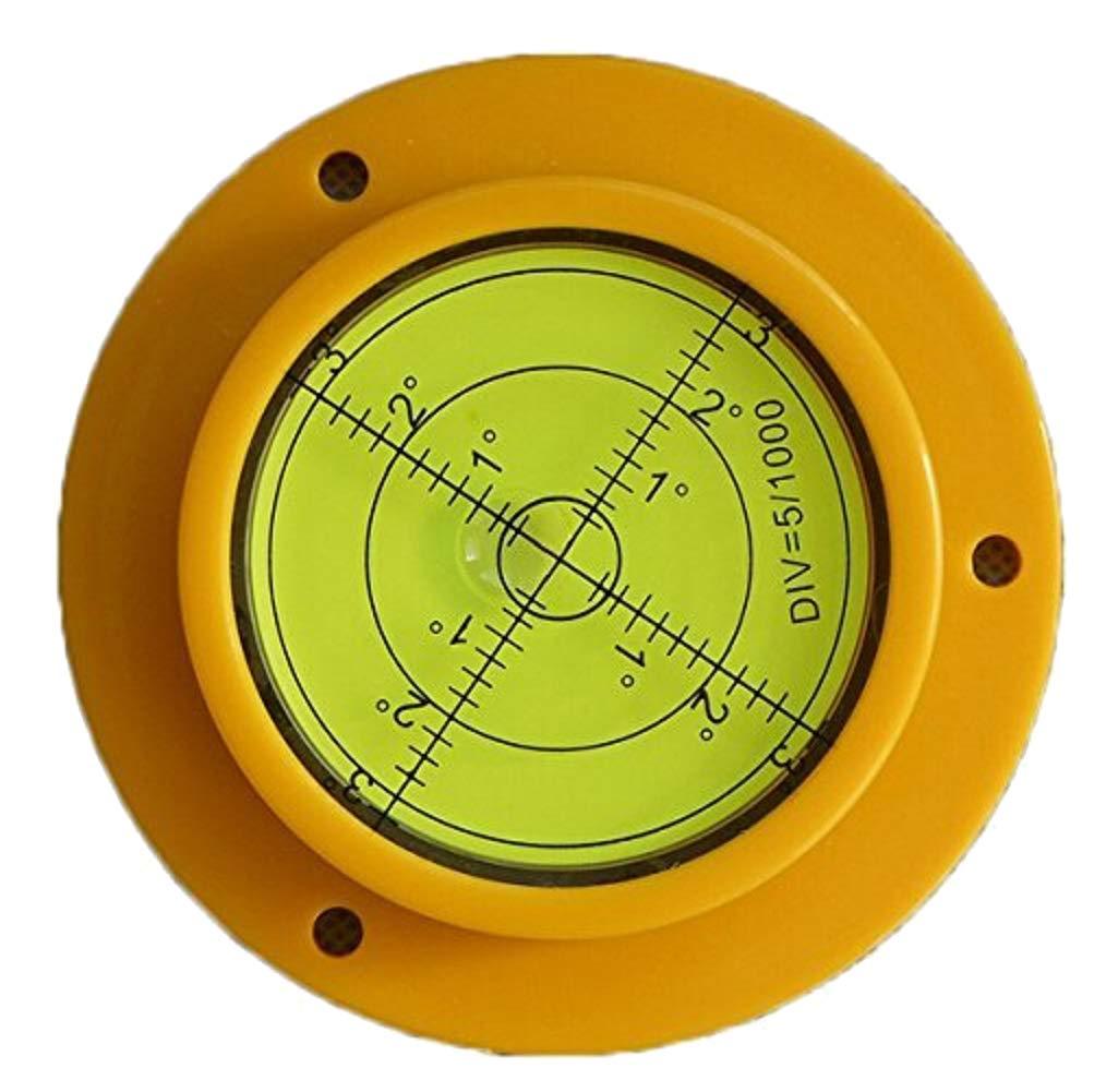 Driak 2PC 50mm Multipurpose Circular Bullseye Bubble Spirit Level With Mounting Hole