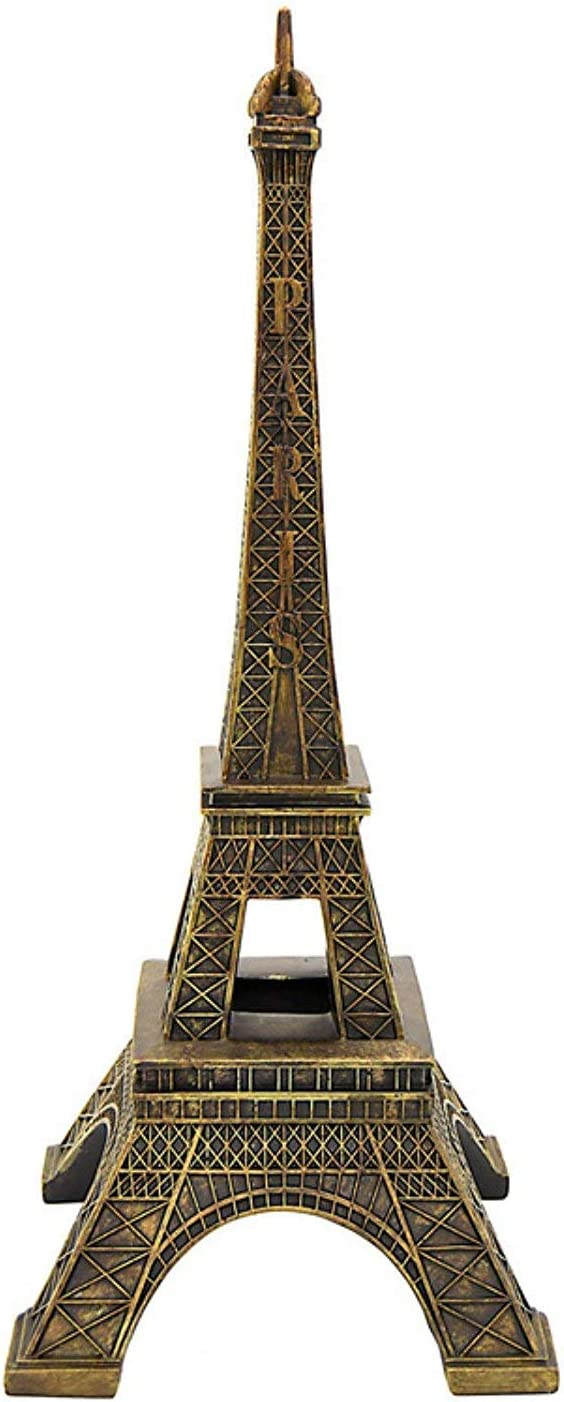 """Simply Elegant Crafts and Party 15"""" Tall Eiffel Tower Party Decor Centerpiece, High Detail (Bronze)"""