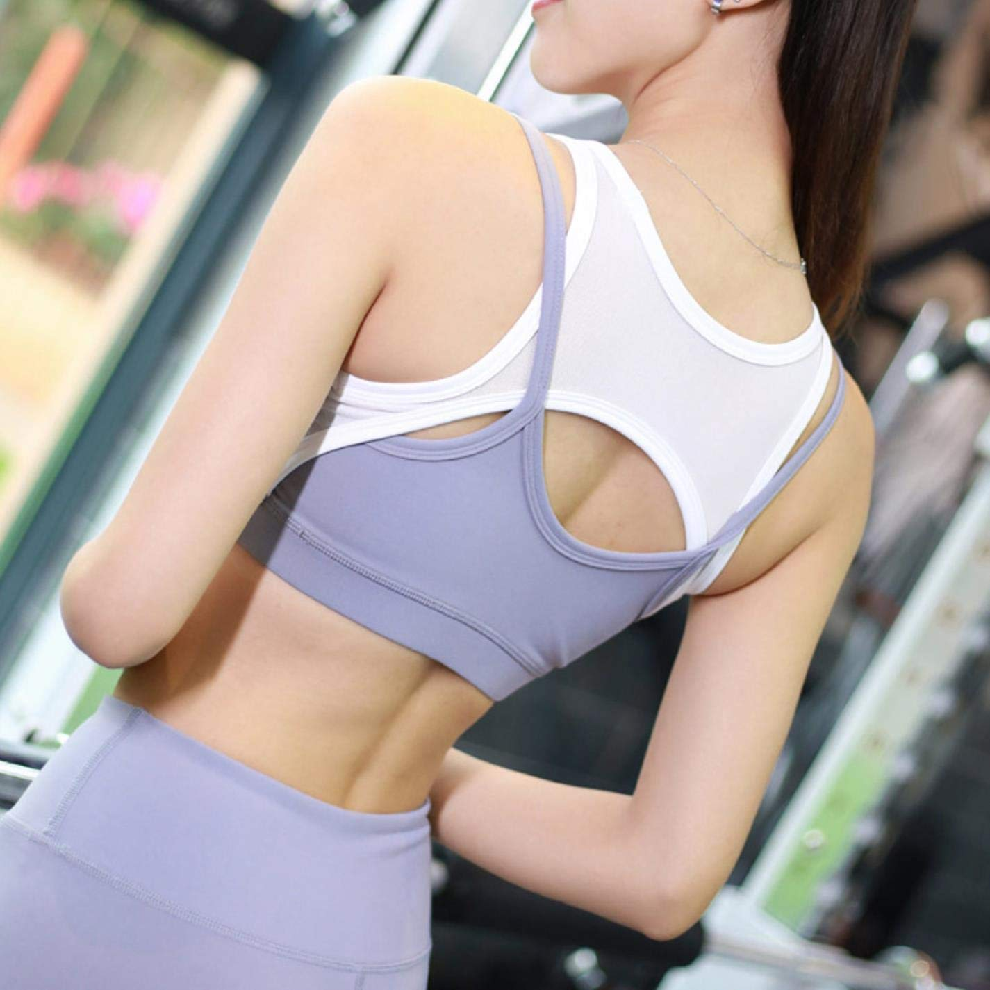 EBVJ Womens Sports Bra for Fitness Yoga Running Pad Cropped Top Sportswear Vest at Amazon Womens Clothing store: