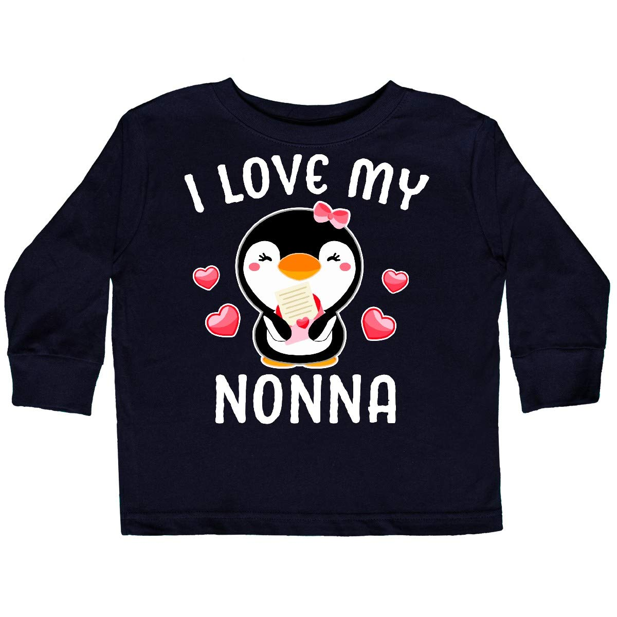 inktastic I Love My Nonna with Cute Penguin and Toddler Long Sleeve T-Shirt