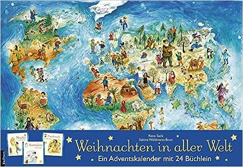 Weihnachten In Aller Welt Adventskalender Mit 24 Buchern Amazon Fr