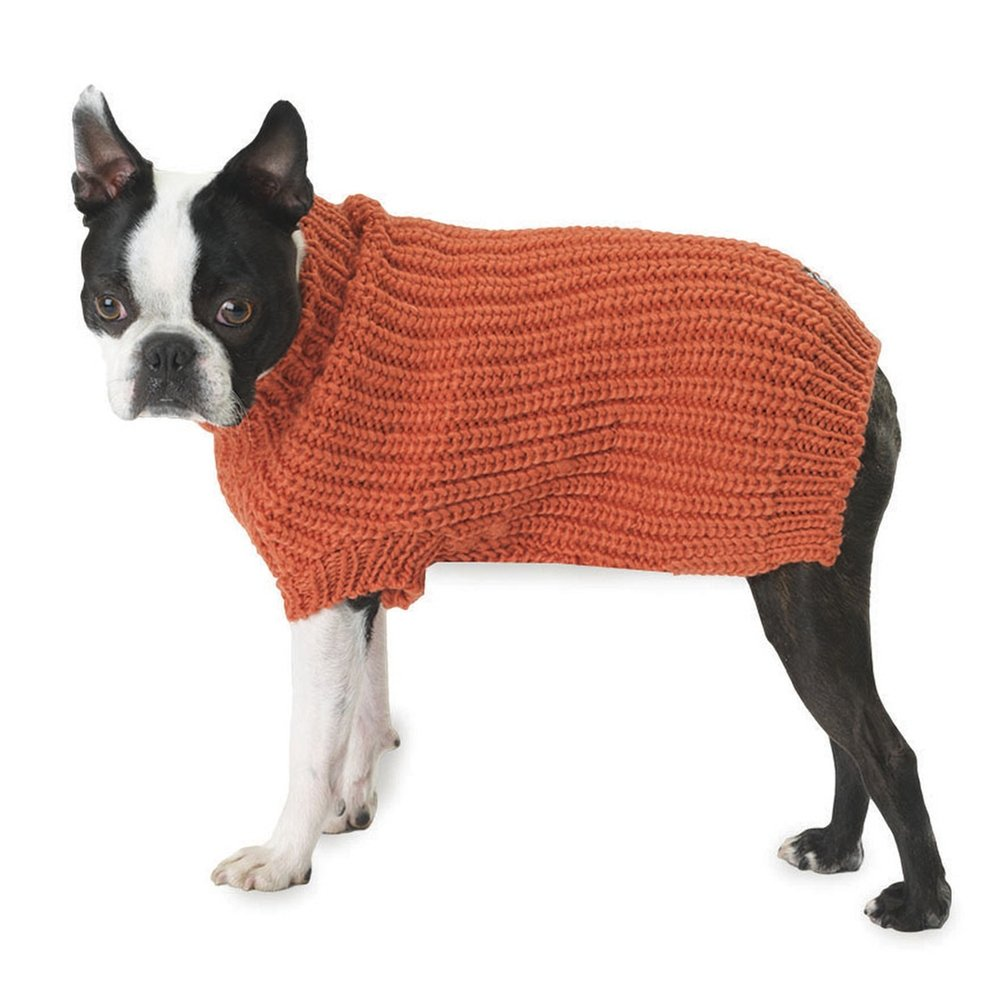 Morgan's Fisherman Orange Dog Sweater - Large