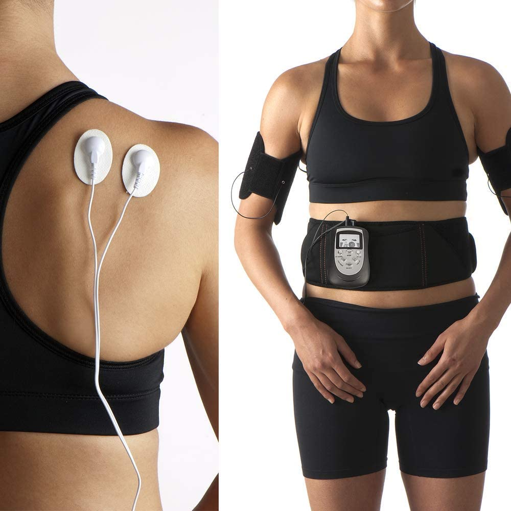 Body Comfort EMS ABS & ARMS Advanced Abdominal Training Belt Plus Muscle Toning Arm Cuffs