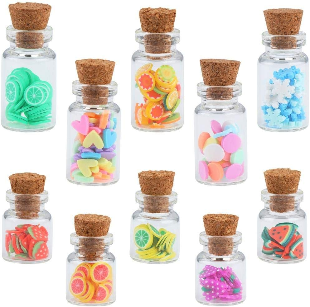 1:12 Scale Dollhouse Storage Jar with Fruit Slices Wooden Lid Cute Doll House Miniature Glass Fruit Sweet Jar with Lid Fruit Slice with Canned Mini Food Accessory Stylish Handmade Accessories,10 Pcs