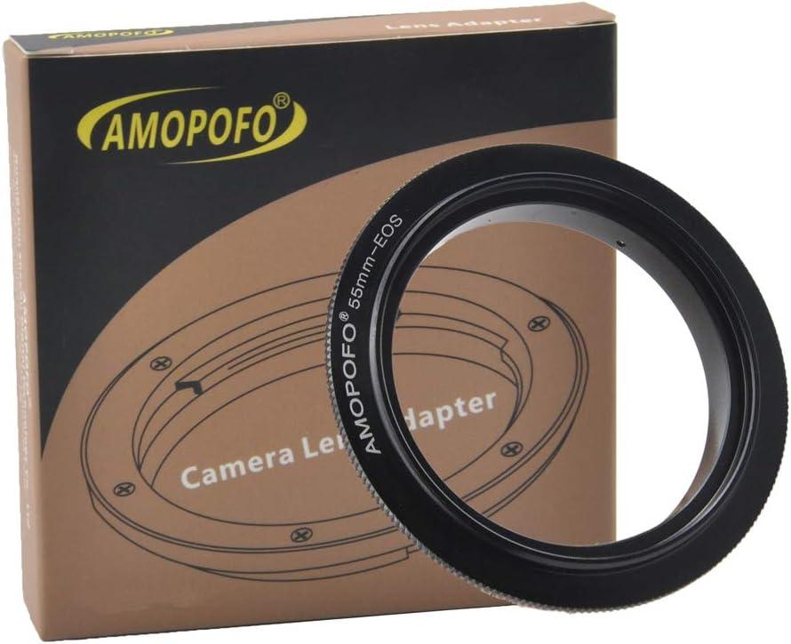 XTi 20D D60 55mm Filter Thread Macro Reverse Mount Adapter Ring IV 50D 60DA Mark III Mark II 7D for Canon EOS 1D Mark II 1DX 1DS XS 1DC III D30 5D 40D 10D 60D 30D Rebel XT 20DA