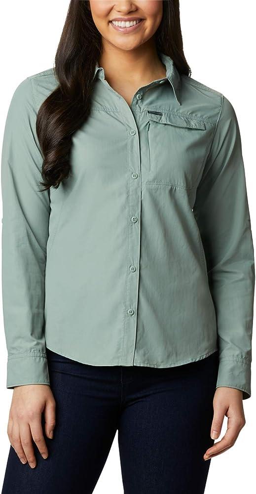 Columbia Silver Ridge 2.0 Camisa de Manga Larga, Mujer, Verde (Light Lichen), S: Amazon.es: Deportes y aire libre