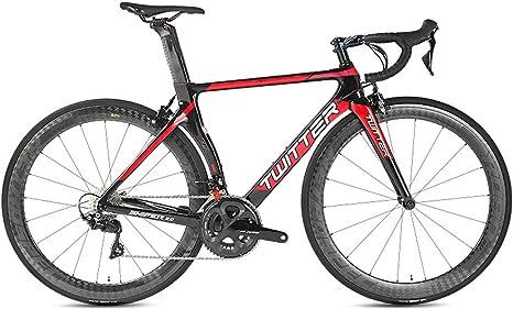 Bicicleta de Fibra de Carbono, Bicicleta de Carretera 700C de Fibra de Carbono con Sistema de Cambio Shimano 105/R7000-22 Velocidad, neumáticos 46-52cm y Freno de Carretera C,7,48cm: Amazon.es: Deportes y aire libre