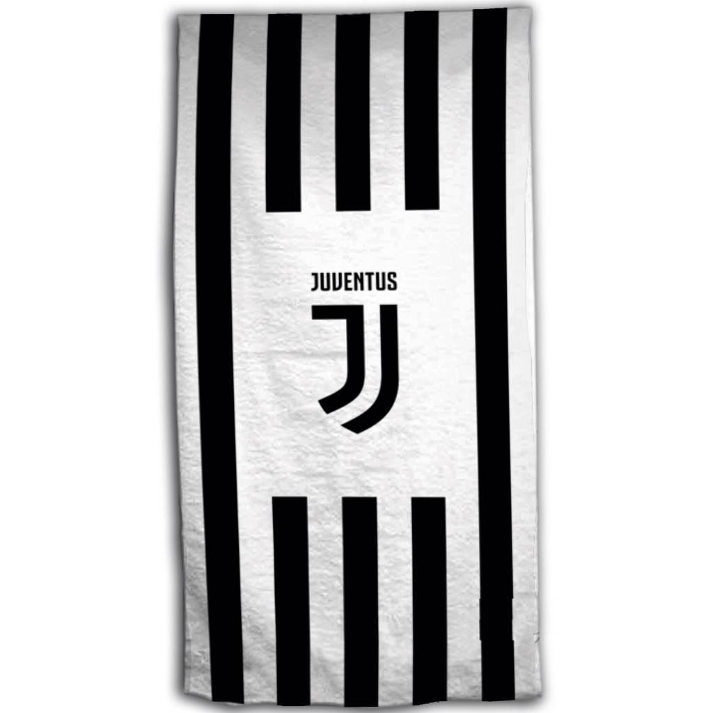 Juventus F.C. Official JUVENTUS FC Beach Towel–Beach Towel 70x 140cm 100% Cotton Aymax