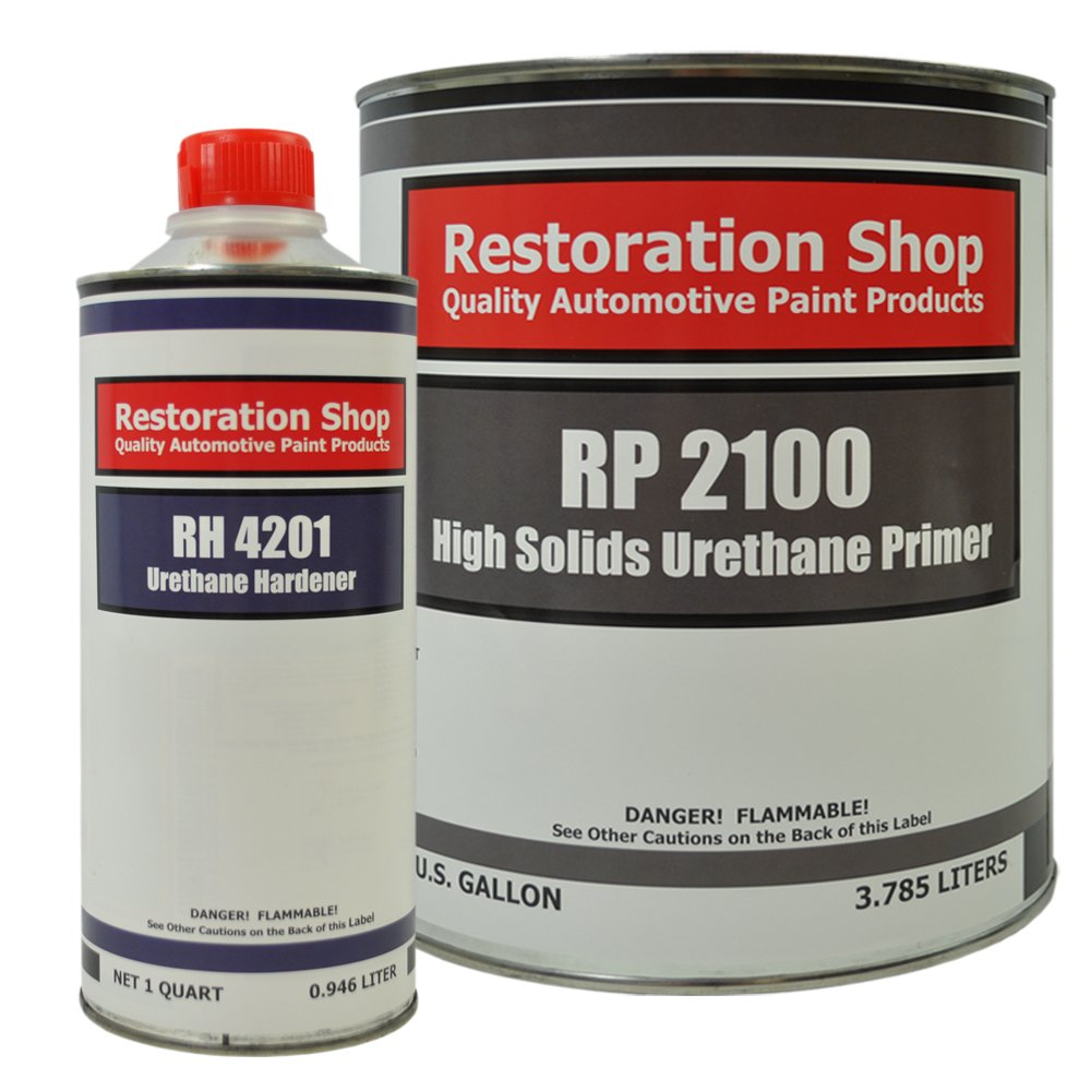 Restoration Shop 2.1 VOC High Solids Urethane Primer Gallon Kit with Hardener by Restoration Shop