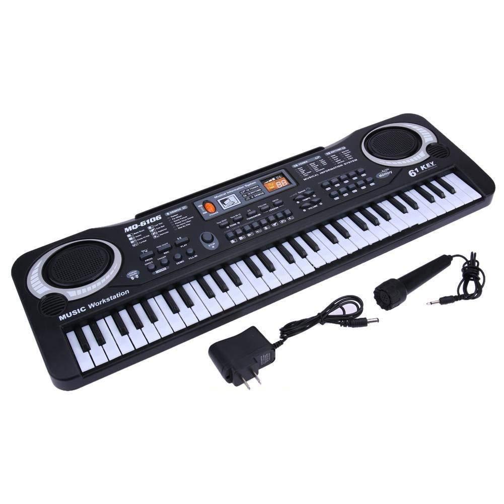 61 Keys Digital Music Electronic Keyboard Key Board Electric Piano Children Gift, US Plug by D.Roc (Image #6)