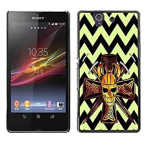 Dragon Case - FOR Sony Xperia Z L36H - Don't give up trying. - Caja protectora de pl??stico duro de la cubierta Dise?¡Ào Slim Fit