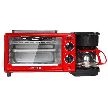 Kitchen Appliances Triple Horno sartén máquina de Desayuno cafetera, Parrilla cafetera de Goteo cocinar tostadora