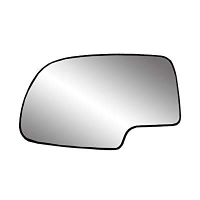 Fit System 33058 Driver Side (LH) Heated Replacement Mirror Glass with Backing Plate: Automotive