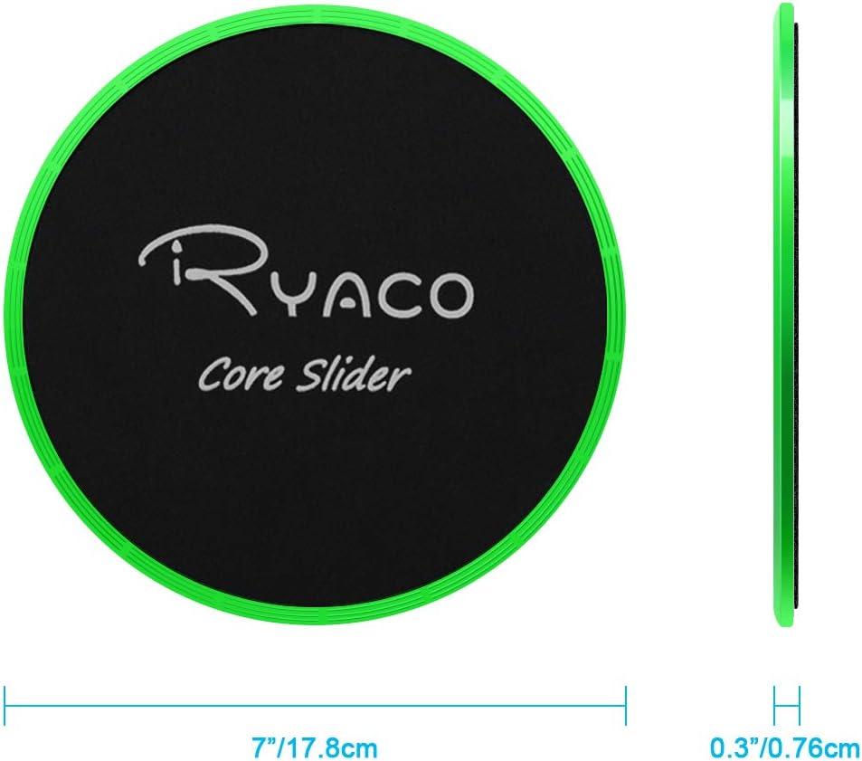 Dual Sided Gliding Discs per Moquette//Pavimenti Ryaco 2 x Core Esercizio Cursori Dischi di Scorrimento Aerobica Fitness Crossfit