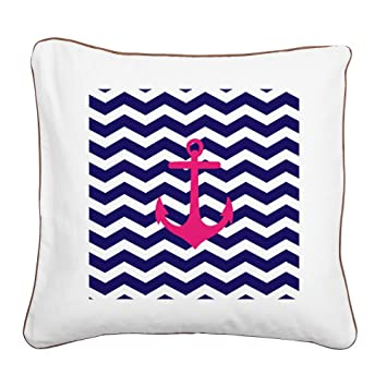 Amazon.com: CafePress – Hot Pink Anchor Azul Chevron – 20 ...