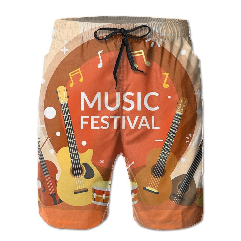 Qinf New Cartoon Fashion Music Festival Shorts Swim Trunks Casual Shorts For Man