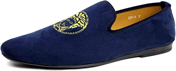 hommes marine /à enfiler italien designer mocassins chaussures D/écontract/é mocassin