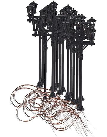 20x Modelo De Luz Jardin Dobles Cabezas Farola Escala 1:100 Model Garden Lights