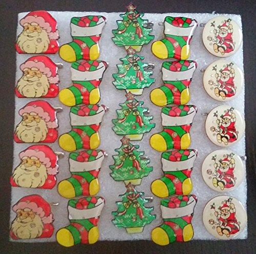 Led Flashing Pins (Christmas Holiday LED Light Up Flashing Pins Assortment (Set of)