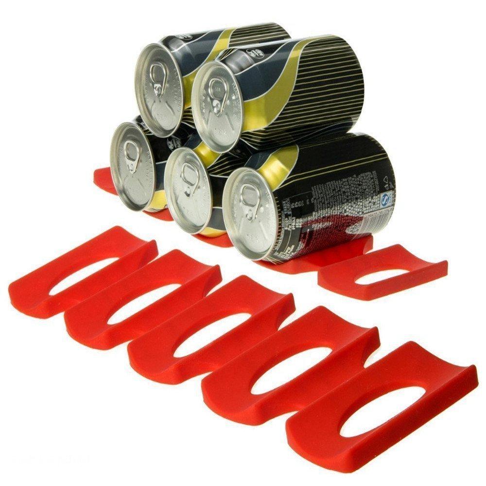 Estante organizador de latas de silicona para frigorífico, cerveza, biberón,...