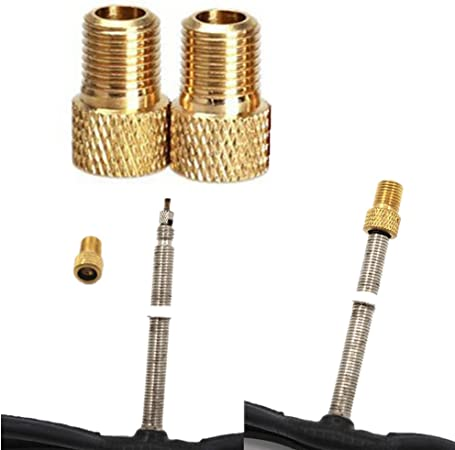 1 to 20 Valve Adapters Presta to Schrader Brass Converter for Bicycle Pumps UK